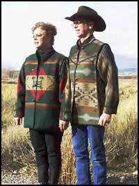 'Oh, My!' jackets in Rock Art and Turtle Mountain reversible Pendleton wool